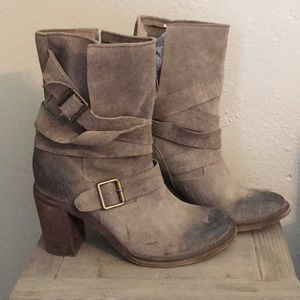 Jeffrey Campbell slouchy suede booties
